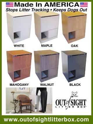 Out of Sight Litter Box Stops Cat Litter Tracking